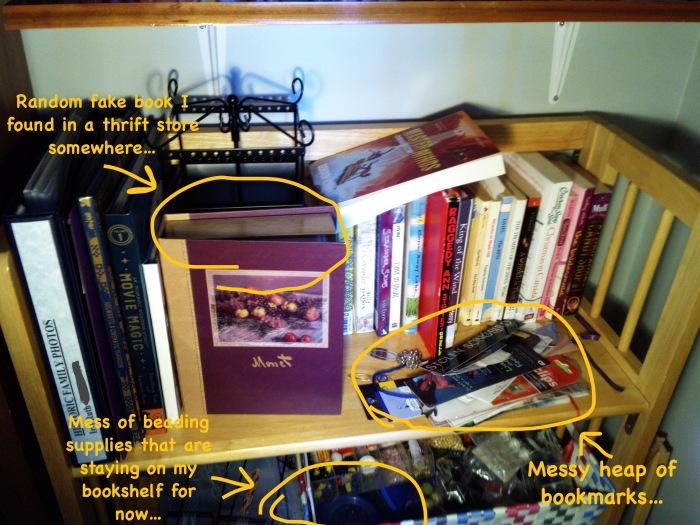 Messy Bookshelf