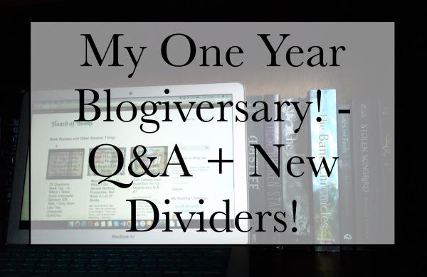 My One Year Blogiversary